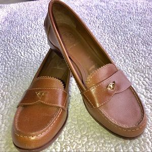 Tory Burch Brown Penny Loafers - 7.5